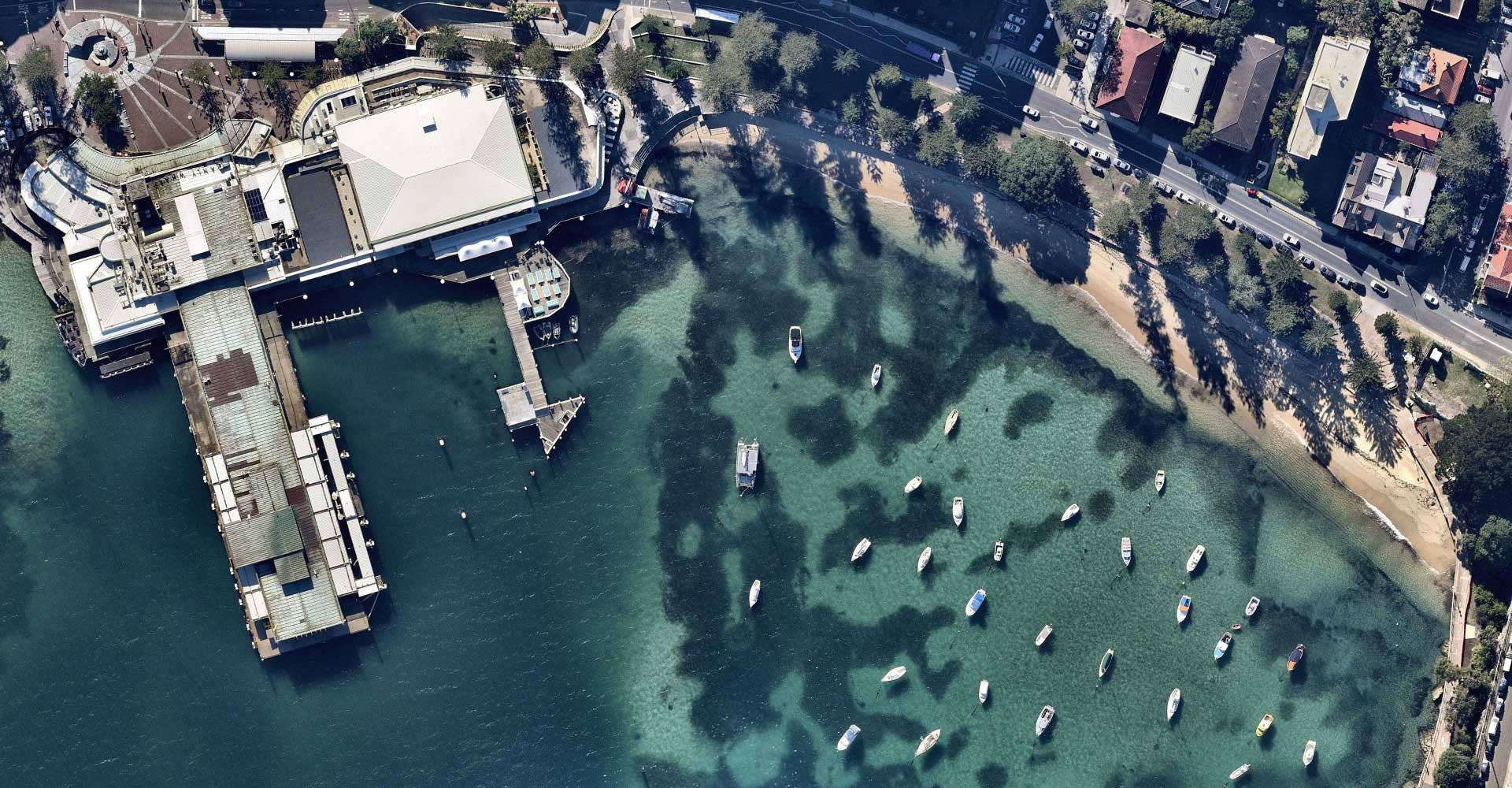 Coverage aerial waterfront image of Manly, New South Wales