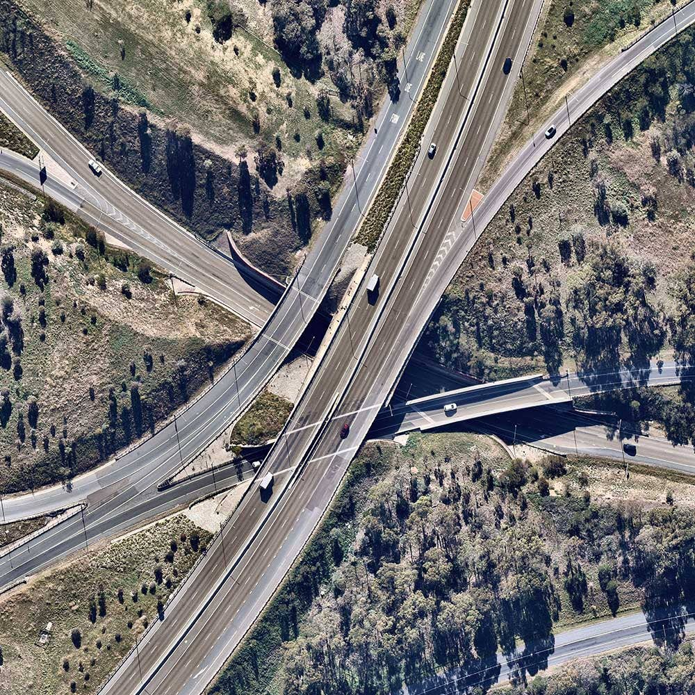 Coverage aerial transport highway interchange in Molonglo, Australian Capital Territory