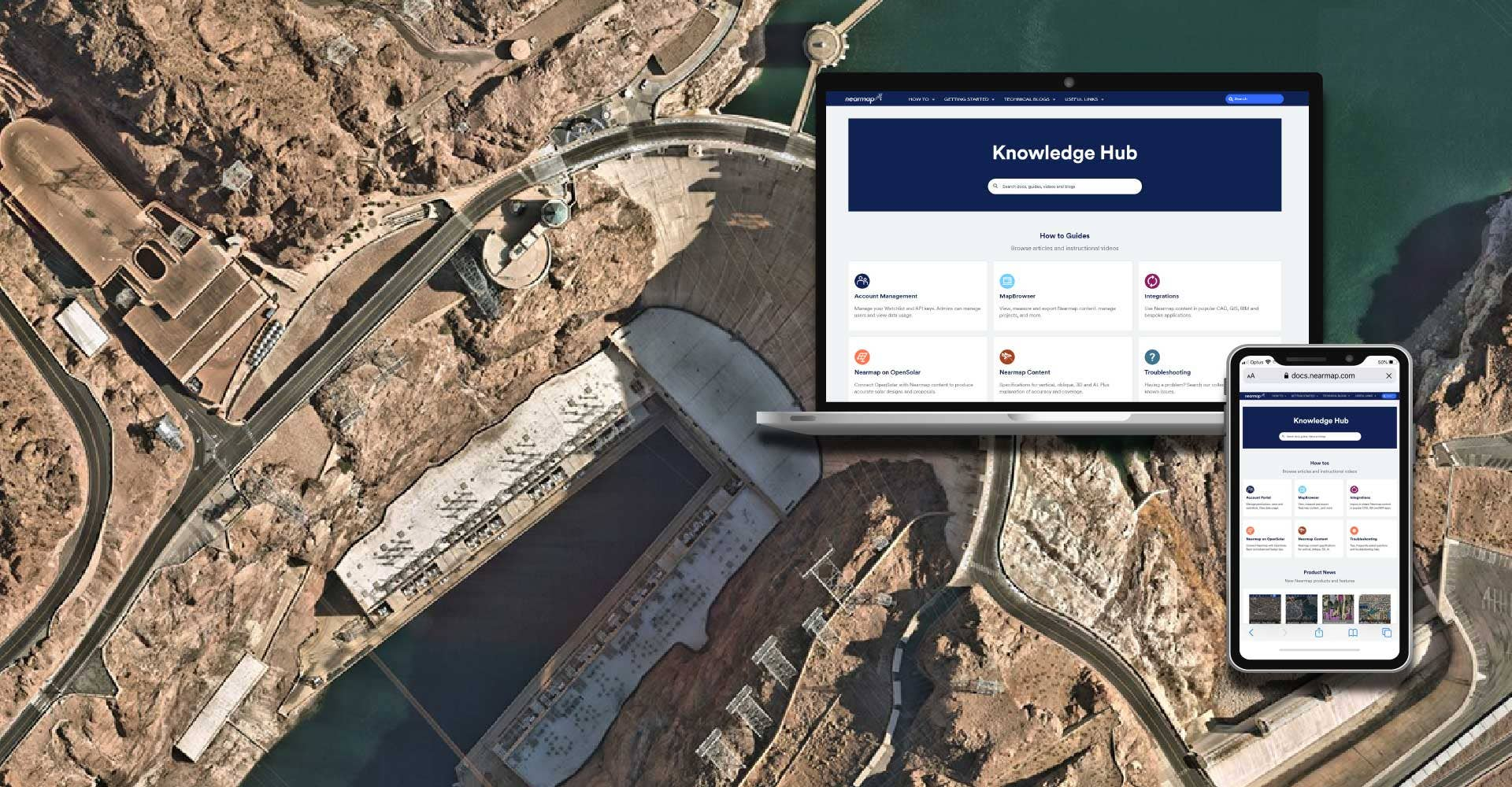 Aerial technology support knowledge hub