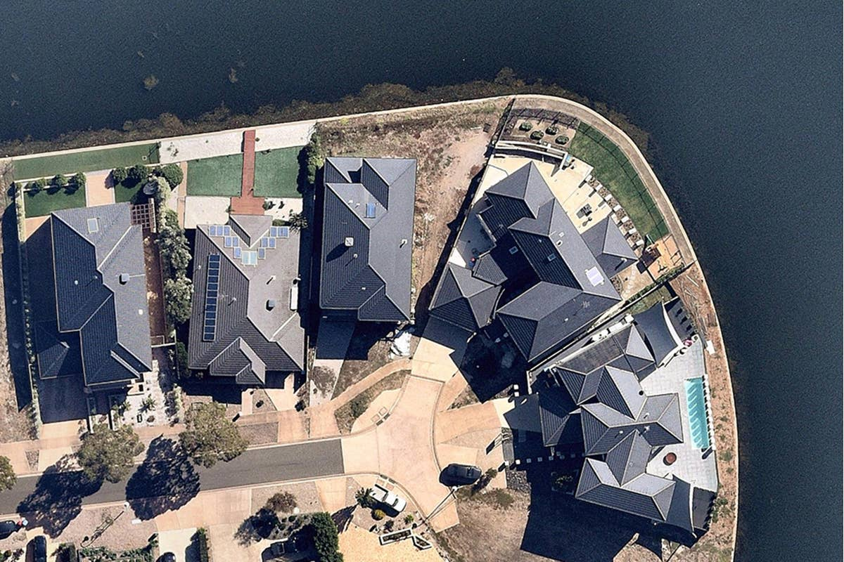 aerial, water, home, Point Cook, VIC, 2019 April 7