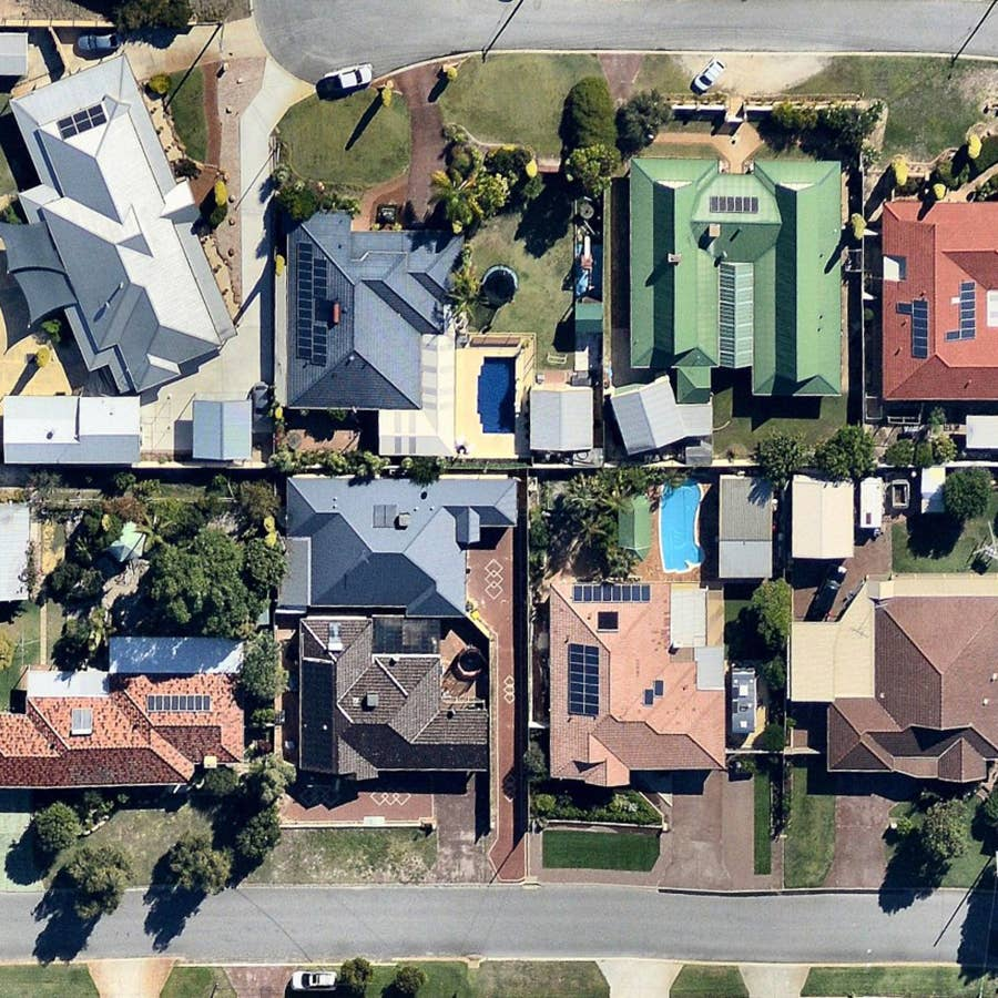 aerial, property, roofs, Beechboro, WA, 2019 May 2