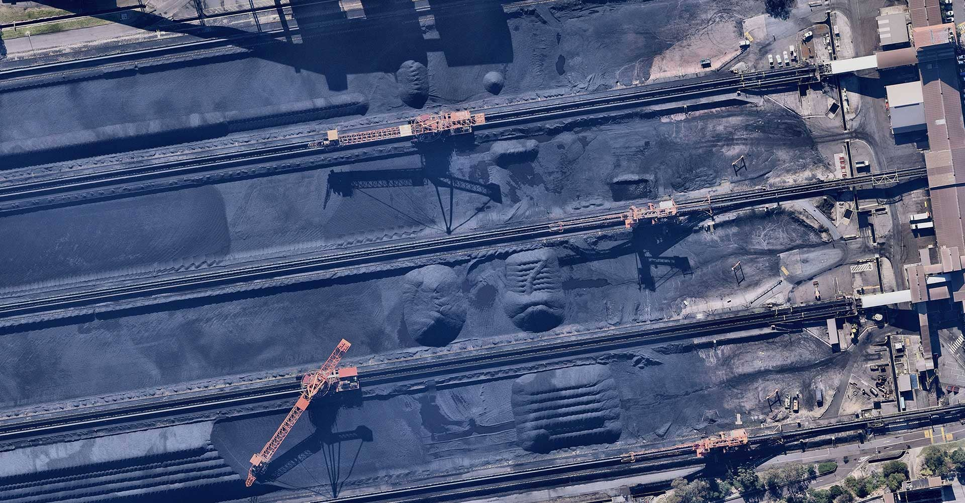 Utilities aerial coal industry Newcastle New South Wales