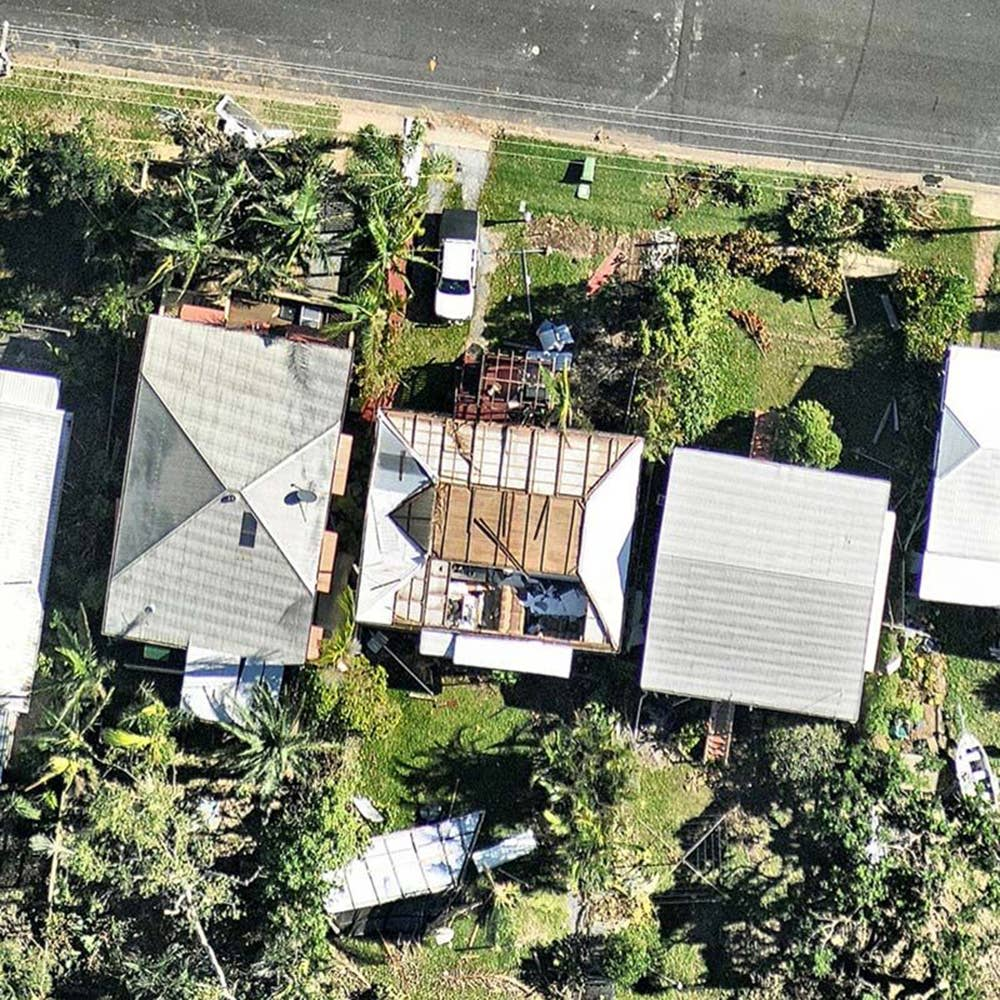 aerial, roof, damage, detail, Yeppoon, QLD, 2018 February 23