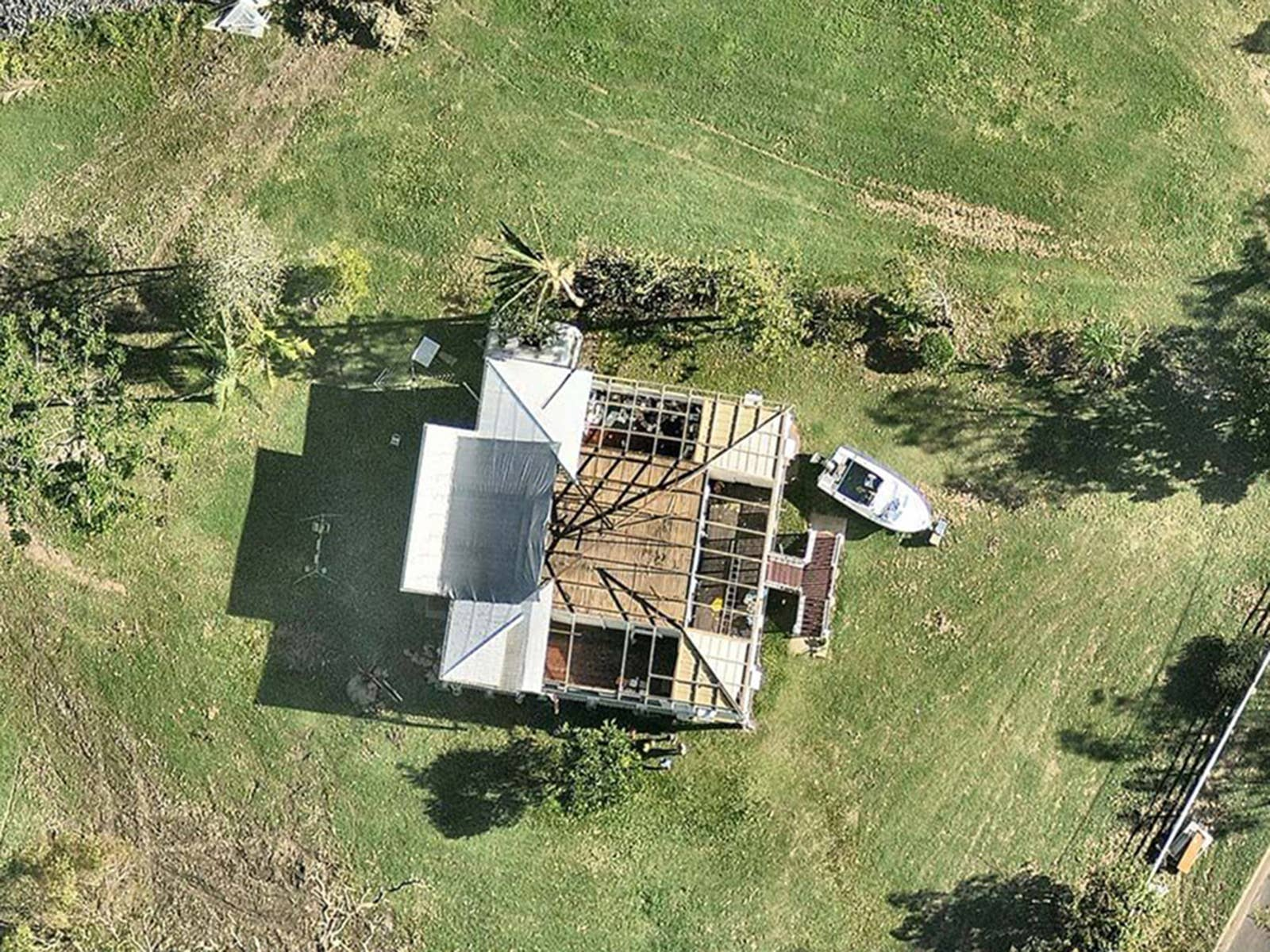 aerial, roofing, damage, Yeppoon, QLD, 23 February 2018