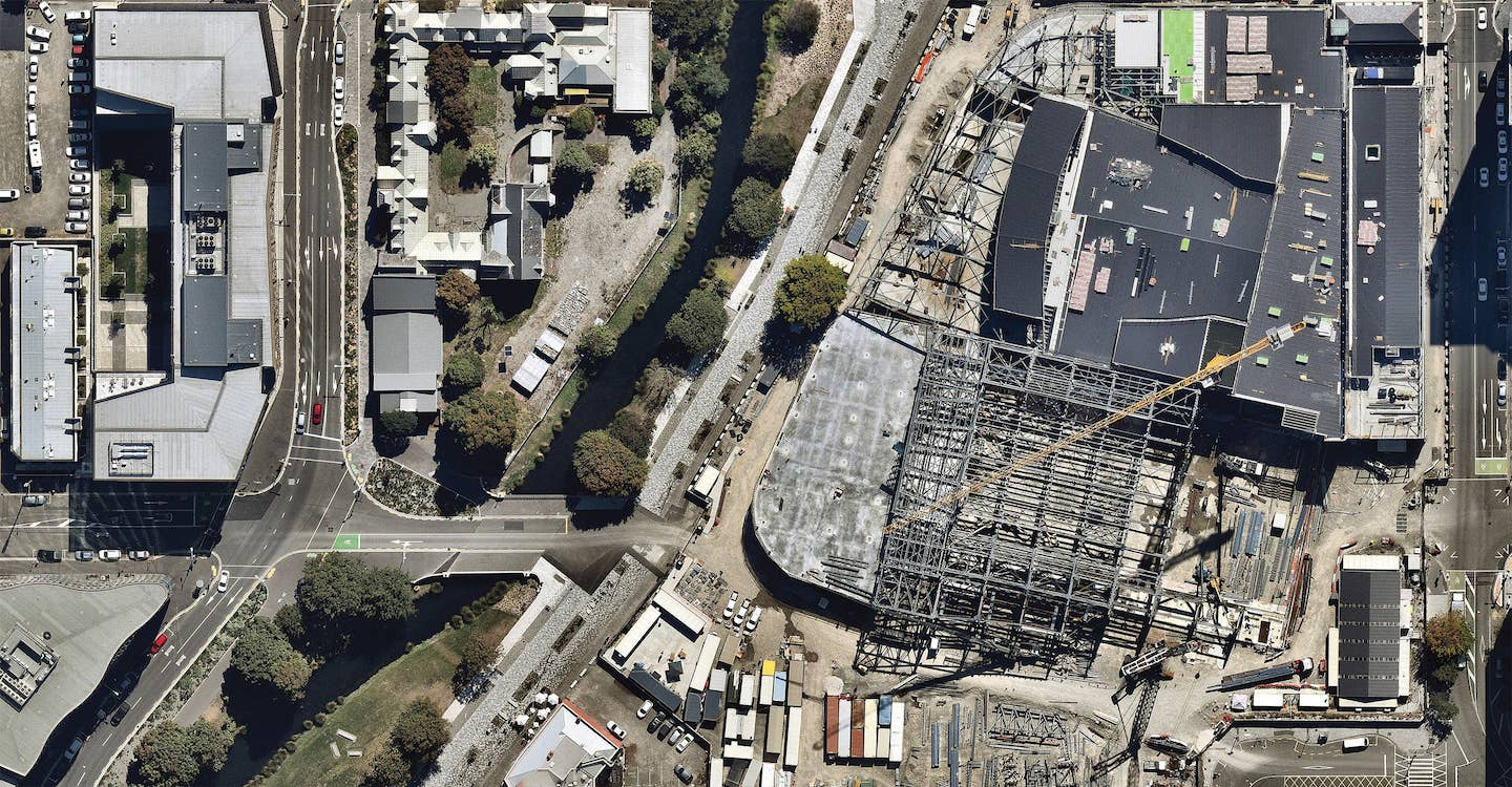 aerial image of commercial construction site in auckland-- 6 March 2019