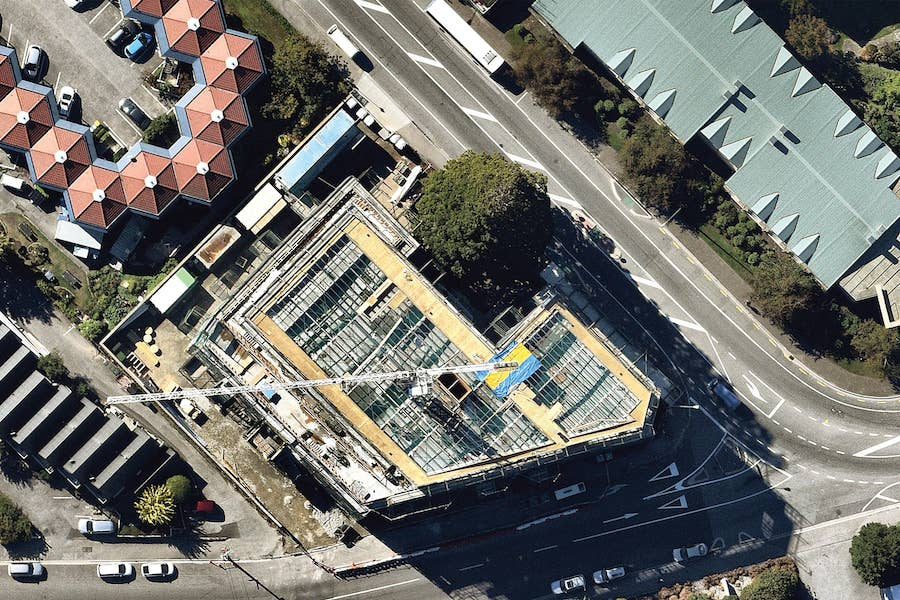 aerial image of building construction in queenstown-- 17 March 2019