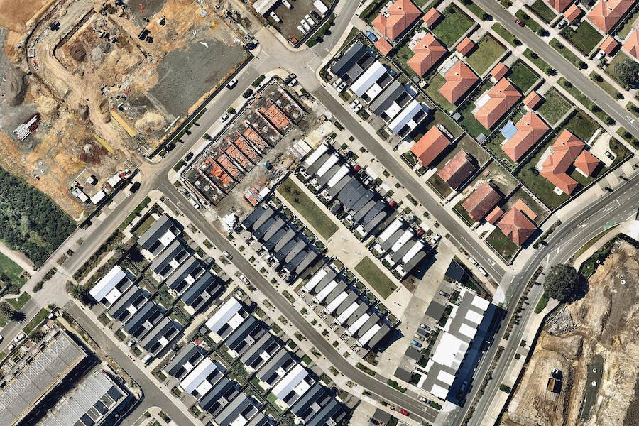 aerial image of property development in auckland-- 15 February 2018