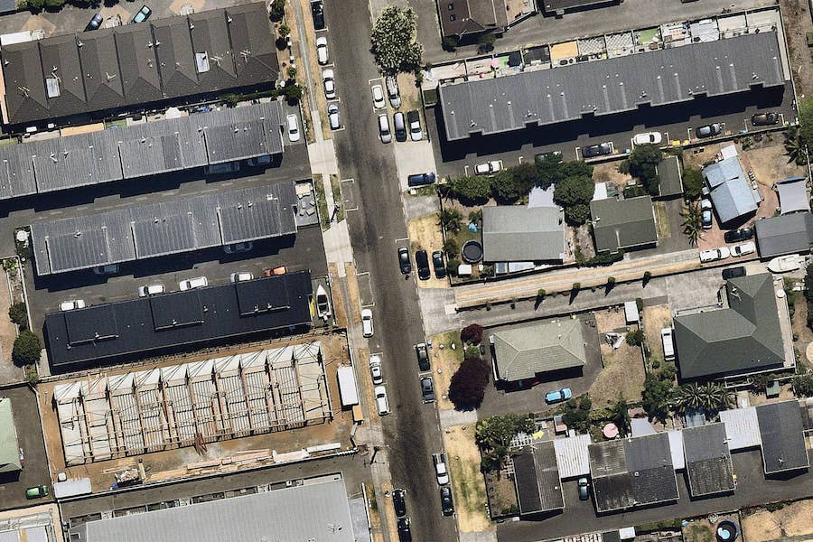 aerial image of roofing construction in tauranga--7 January 2019