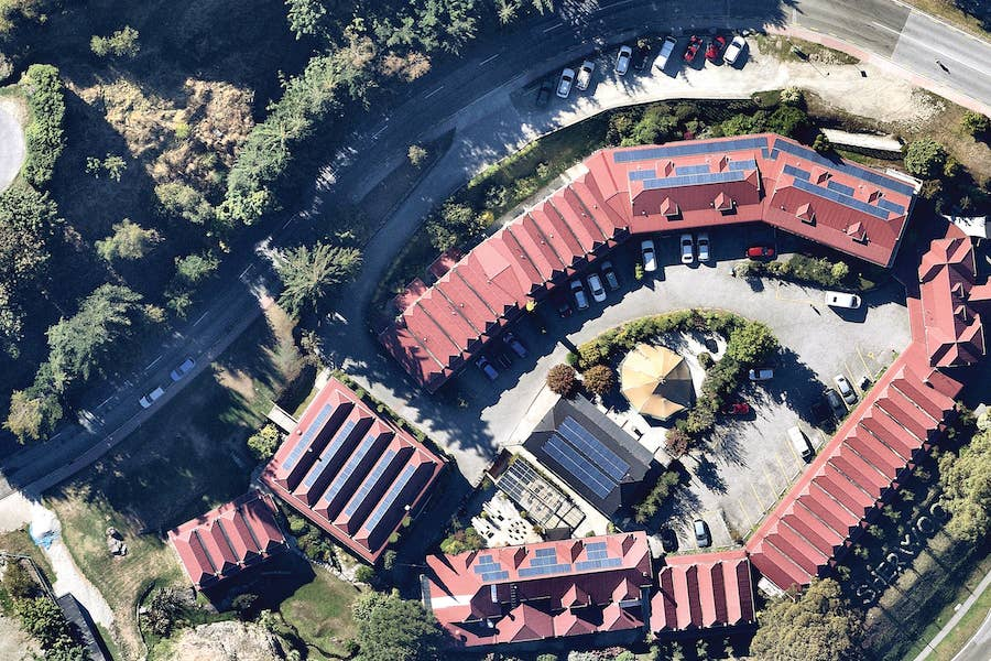 aerial image of solar roof in queenstown-- 17 March 2019