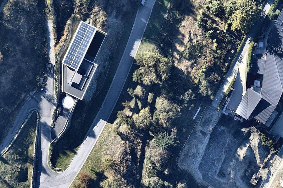 aerial image of residential solar use in queenstown-- 17 March 2019
