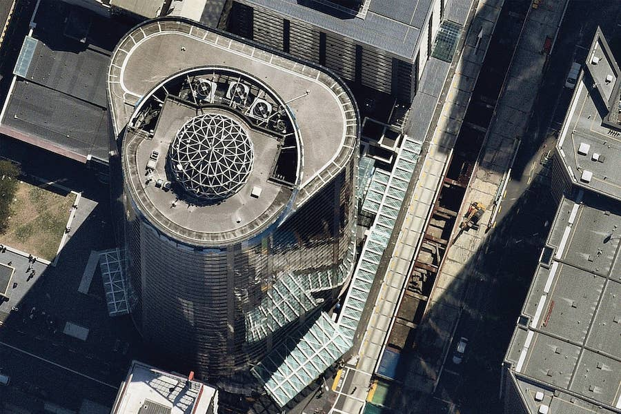 aerial image of ANZ centre in auckland-- 04 February 2019
