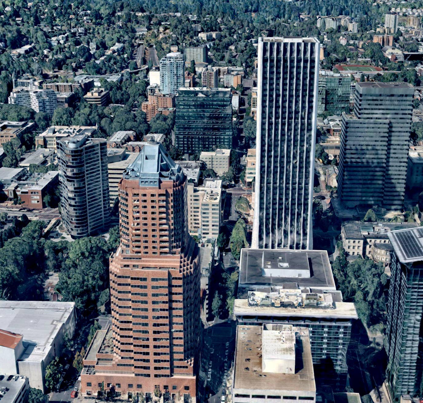 3D aerial view, Portland OR -- 2 September 2018