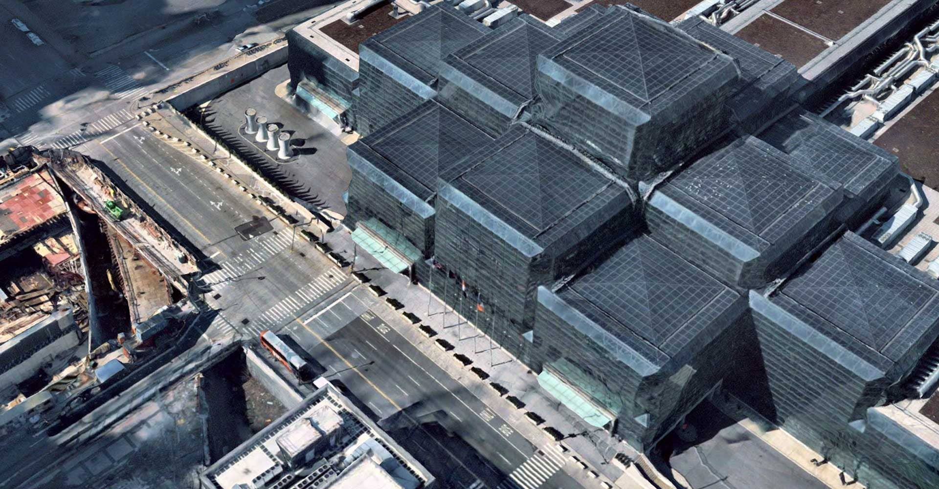 Aerial imagery support, Javits Convention Center in New York, NY