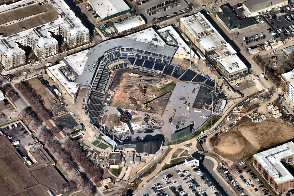 High Resolution Aerial Image of First Horizon Park, Nashville Tennessee