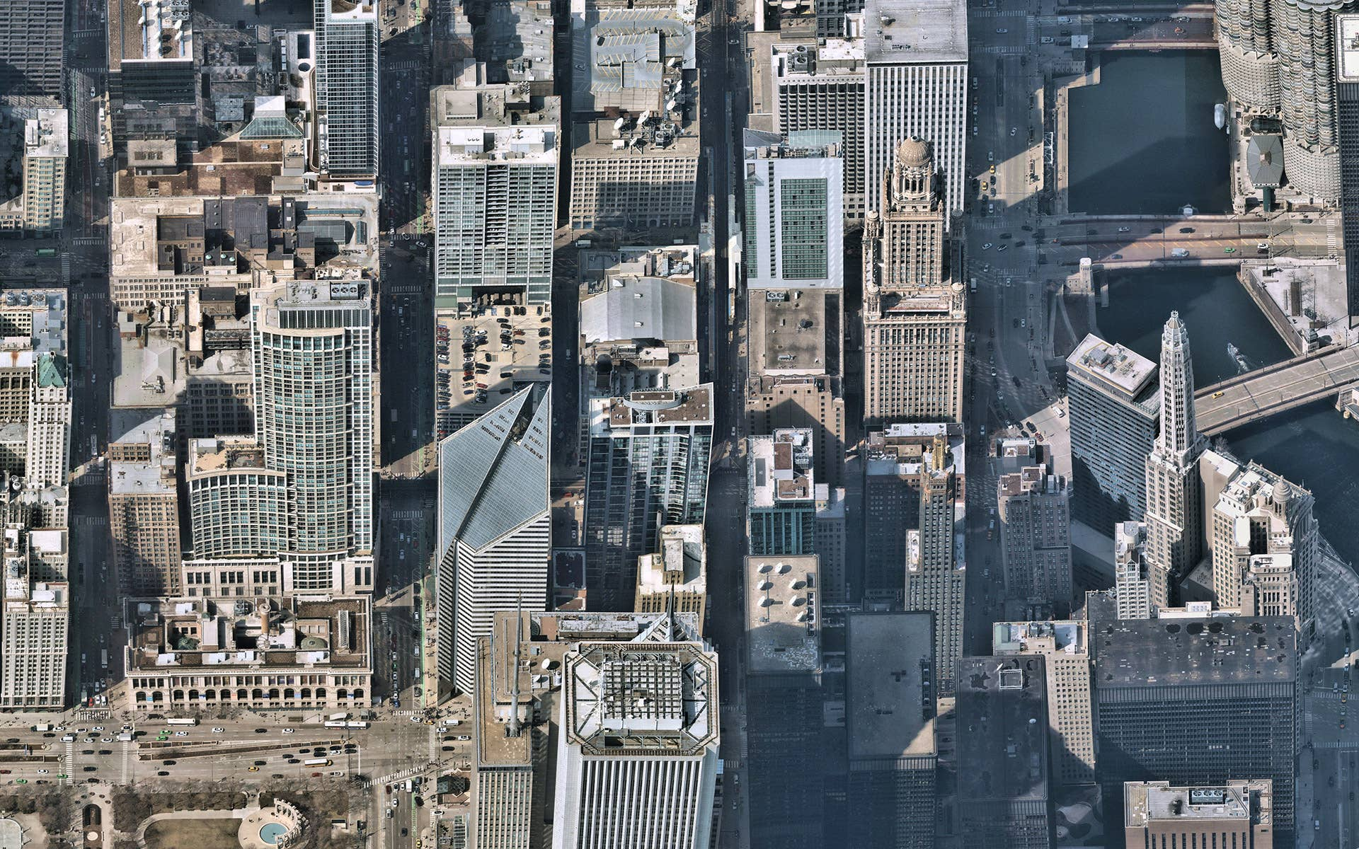aerial, imagery, oblique, cityscape, chicago, illinois, 2019 July 22