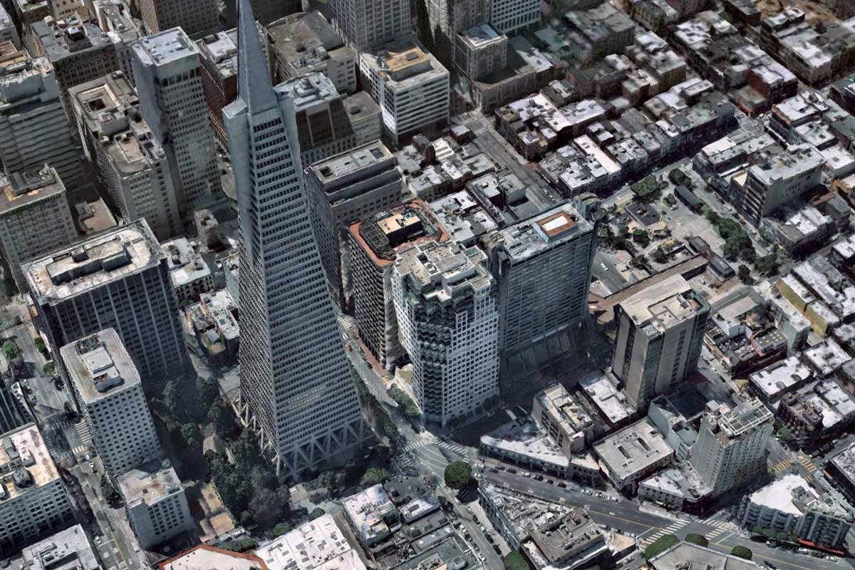 Industries 3D aerial image of San Fransisco, California
