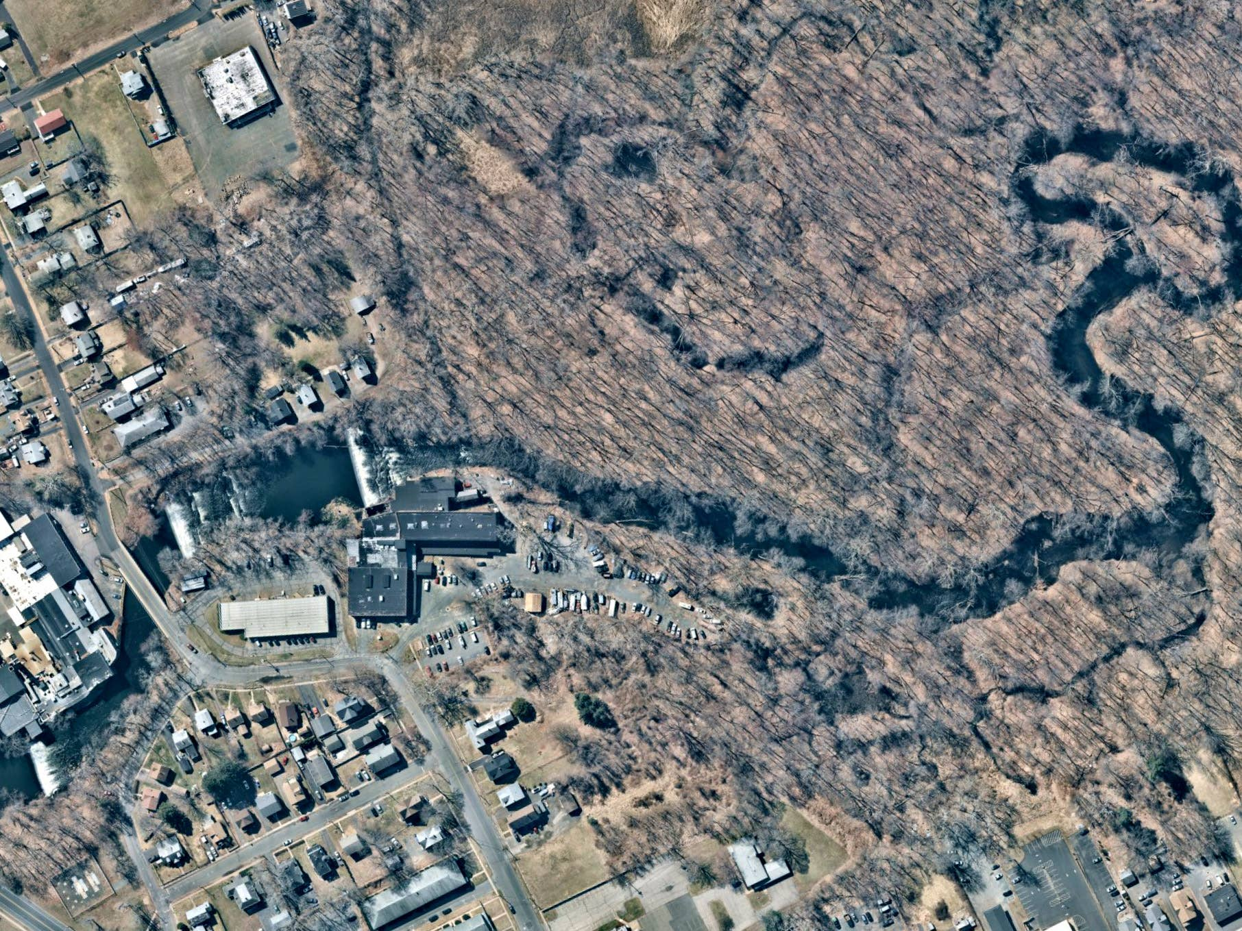 Overhead view, stormwater management, East Hartford, CT -- 1 April 2019