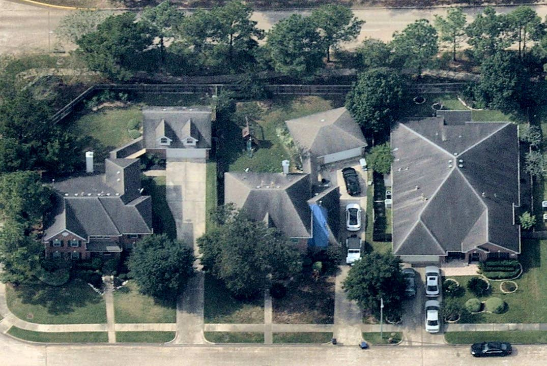 Oblique aerial photo, possible roof damage, Spring TX -- 26 June 2017