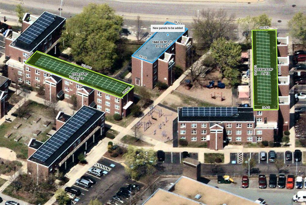 Aerial maps for solar installation planning - Lowell, MA - 29 April 2019
