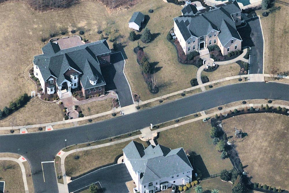 High-res oblique aerial view for residential solar quoting - Trenton, NJ - 13 March 2019
