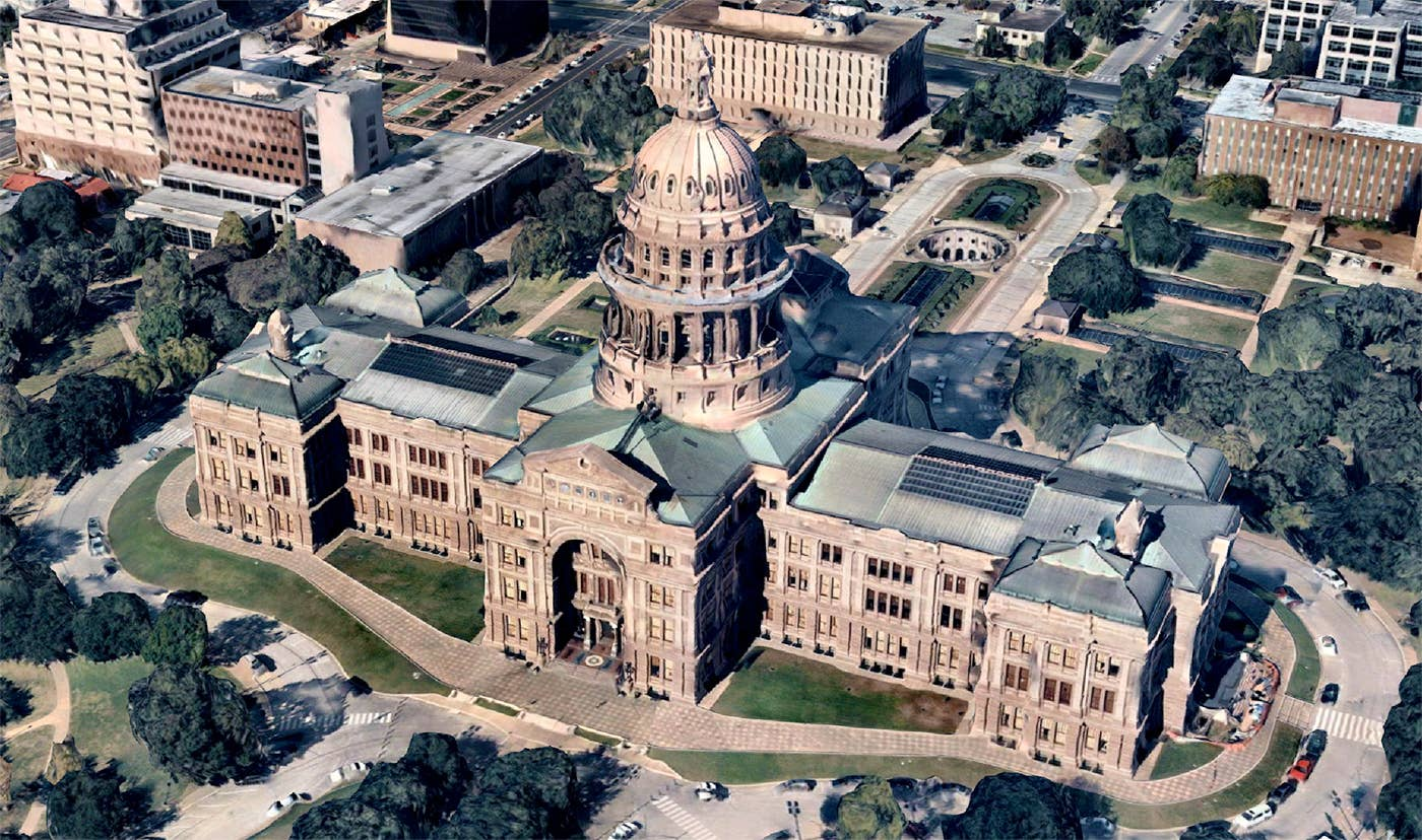 High-res 3D reality model of Texas State Capitol building - Oct. 26, 2018