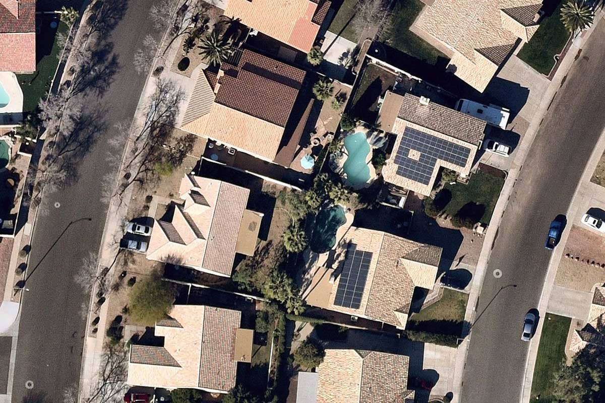 Open Solar vertical image roof panels in Chandler Arizona