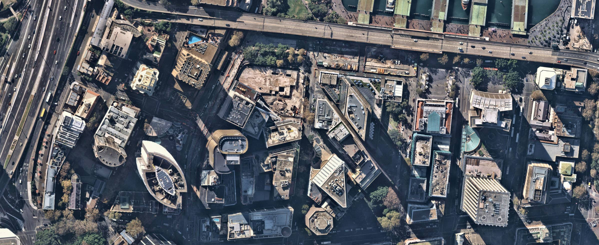 aerial, imagery, construction, urban, Sydney NSW, 2018 May 05