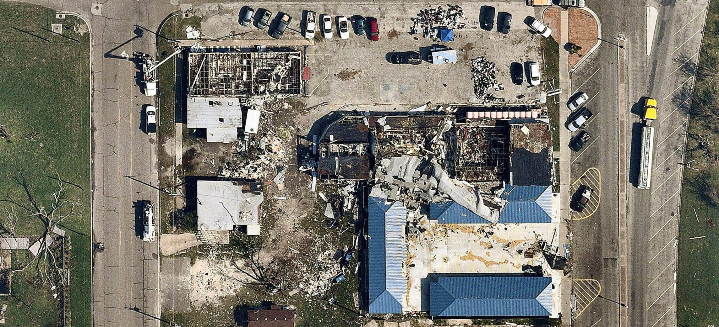 aerial, hurricane, natural disaster, Rockport, TX, 2017 August 31