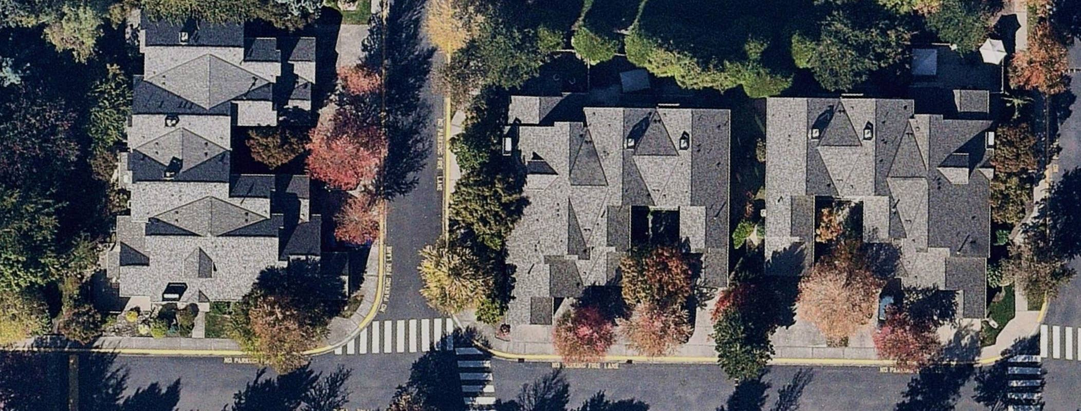aerial, seasonal, roofing, Redmond, WA, 2018 September 25