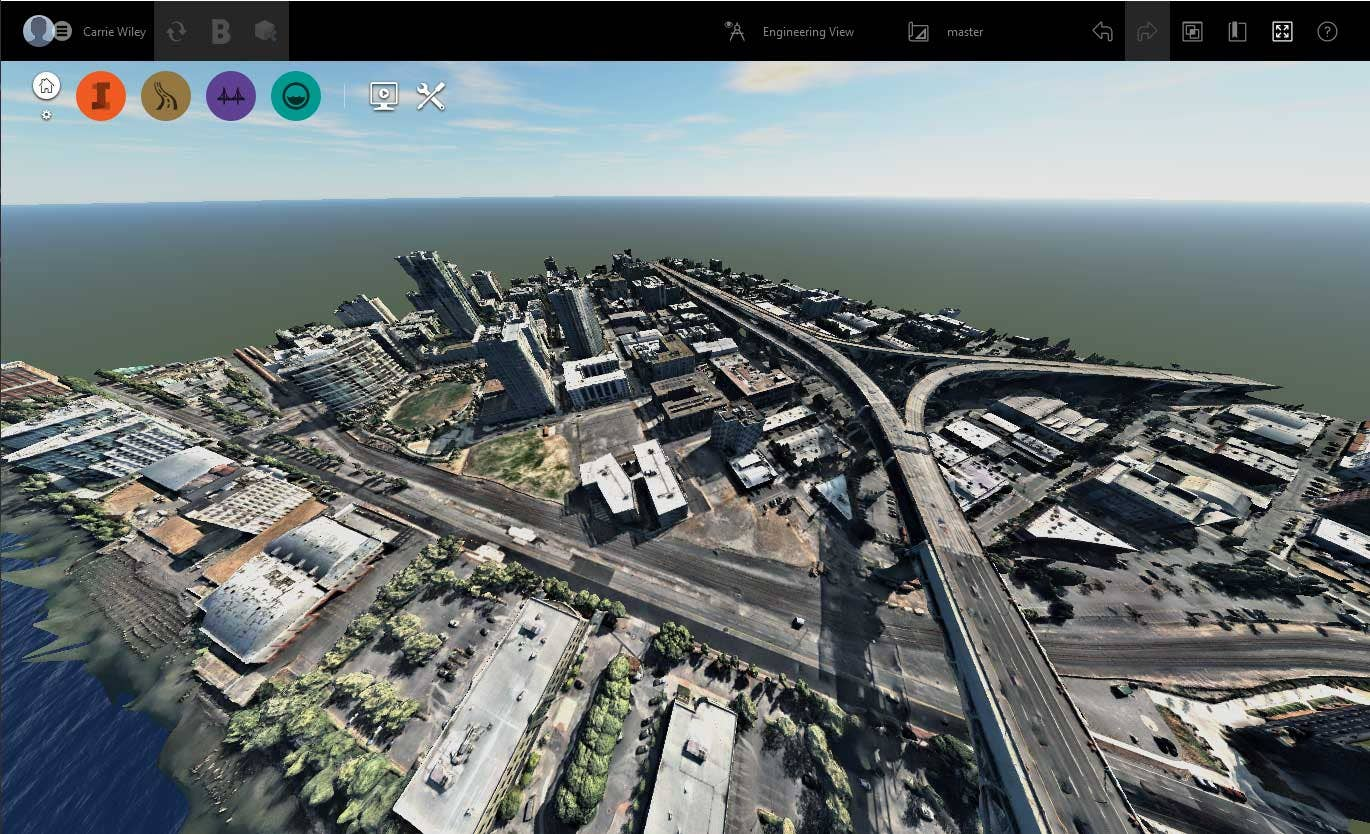 Autodesk's InfraWorks with Nearmap textured mesh in OBJ format.