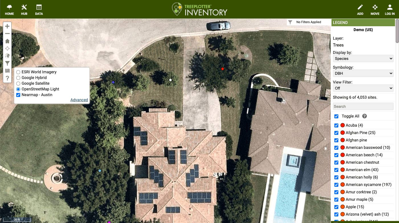 TreePlotter by PlanIT Geo now integrates Nearmap imagery for urban forestry, arboriculture, and park asset management.