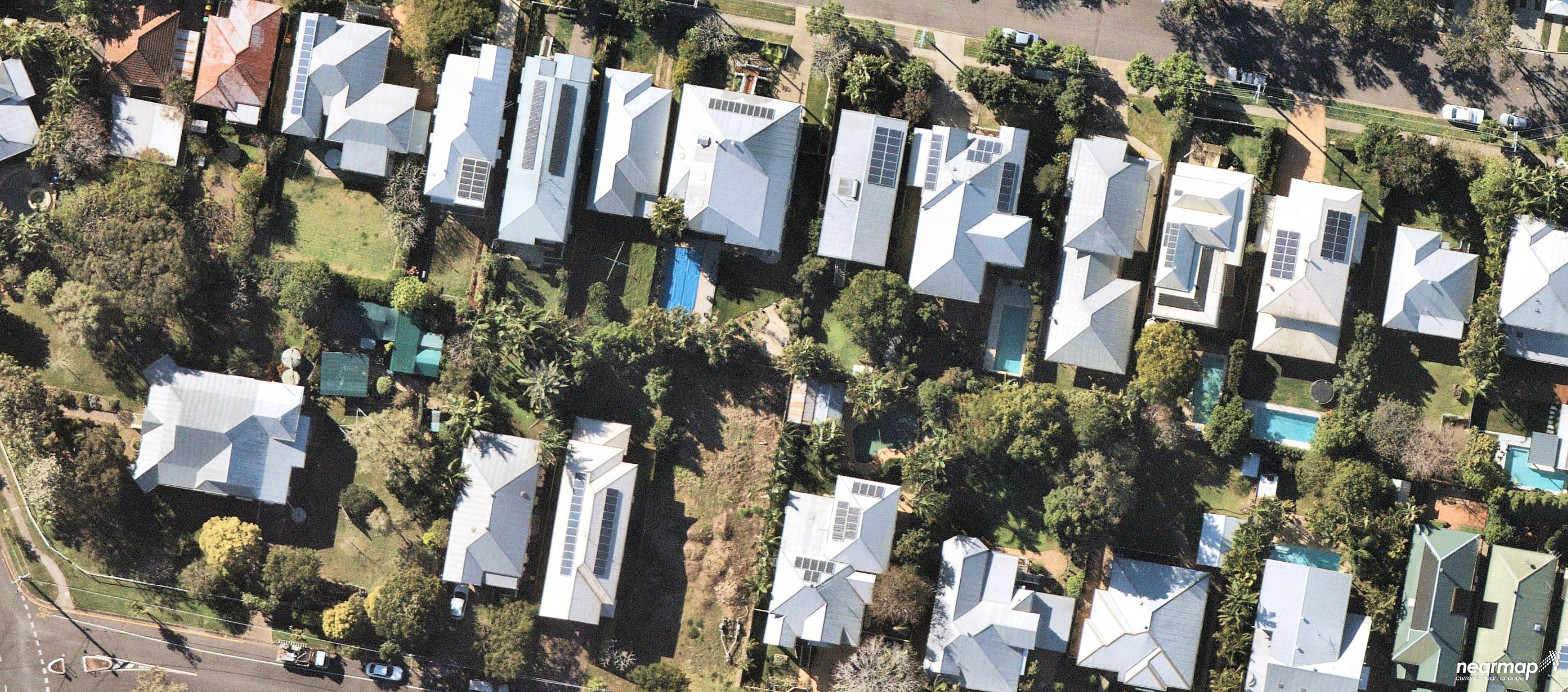 aerial, solar panels, Queensland