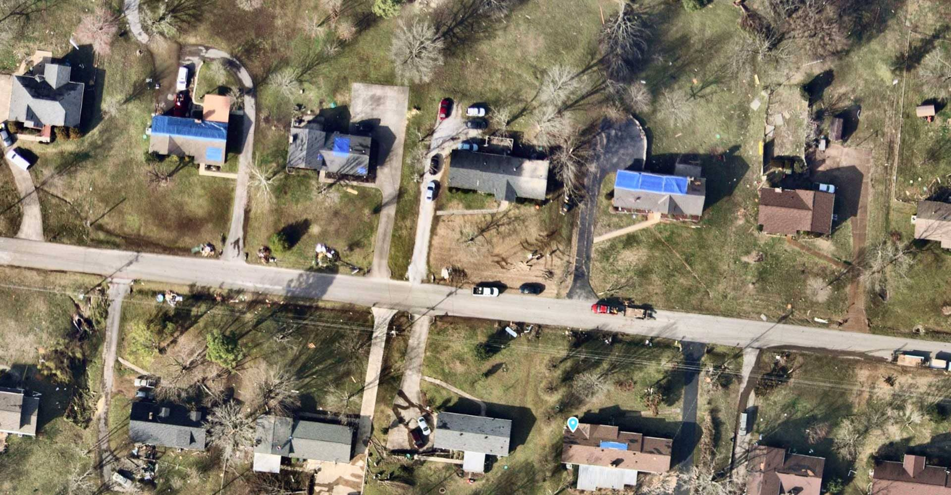 Insurance risk assessment tools for post catastrophe and hurricane imagery, Mt Juliet, TN