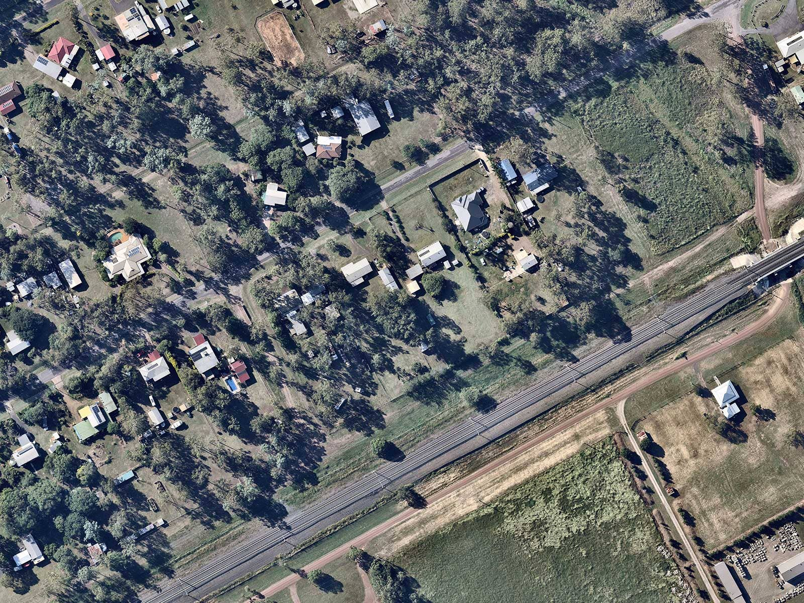 Thagoona aerial map in Ipswich, QLD