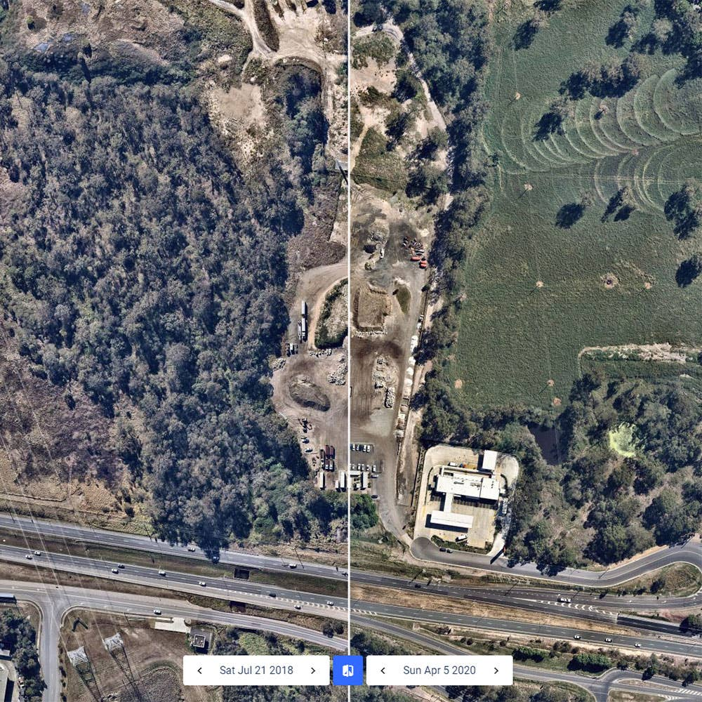 Historical Comparison of Aerial Imagery in Ipswich