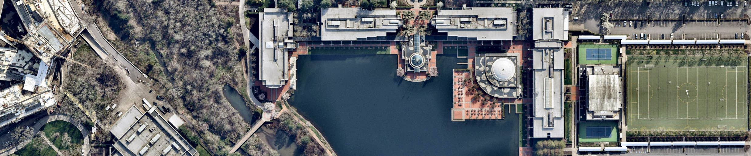 Aerial View, Nike World Campus, Beaverton OR -- 30 March 2019