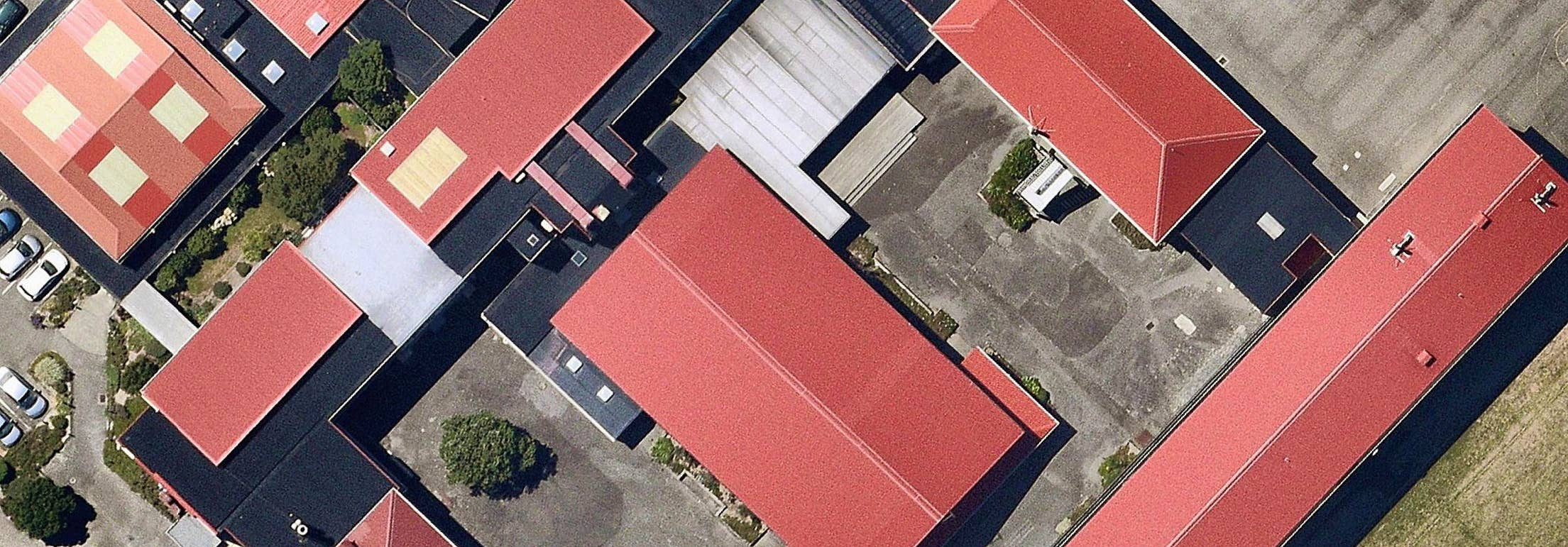 Aerial view maps of commercial rooftops in Wellington, NZ - 8 Feb. 2019