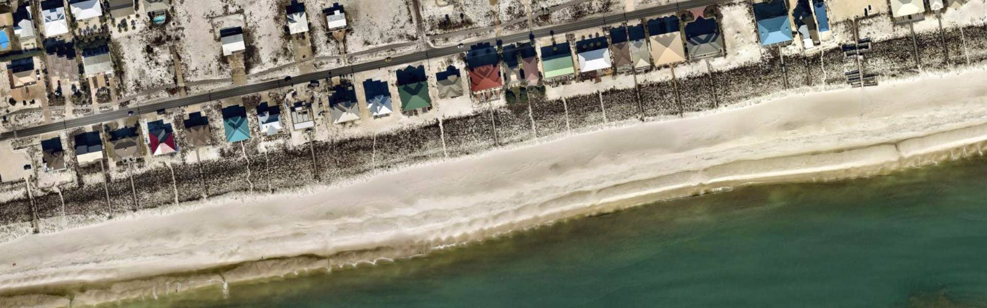 High-res aerial ortho image of beach in Navarre, FL - January 2019
